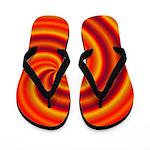 Orange Red Swirl Flip Flops