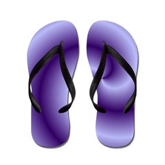Purple Swirl Flip Flops