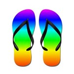 Rainbow Flip Flops