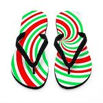 Christmas Swirl Flip Flops