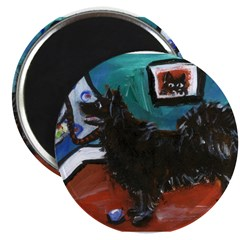 "SWEDISH LAPPHUND whimsical do 2.25"" Magnet (10 pac"