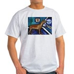 PINSCHER dog art design Ash Grey T-Shirt