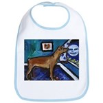 PINSCHER dog art design Bib