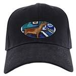 PINSCHER dog art design Black Cap