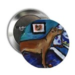 PINSCHER dog art design Button