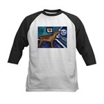 PINSCHER dog art design Kids Baseball Jersey