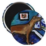 PINSCHER dog art design Magnet