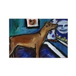 PINSCHER dog art design Rectangle Magnet