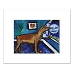 PINSCHER dog art design Small Poster