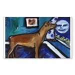 PINSCHER dog art design Rectangle Sticker