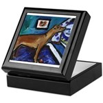 PINSCHER dog art design Keepsake Box