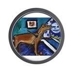 PINSCHER dog art design Wall Clock