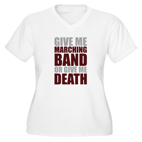Band or Death Women's Plus Size V-Neck T-Shirt
