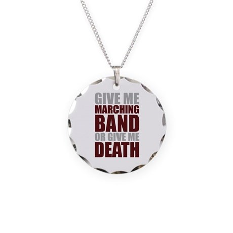 Band or Death Necklace Circle Charm