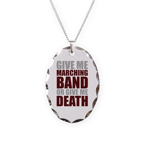 Band or Death Necklace Oval Charm