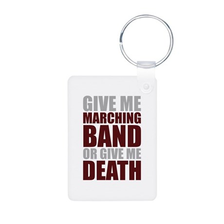 Band or Death Aluminum Photo Keychain