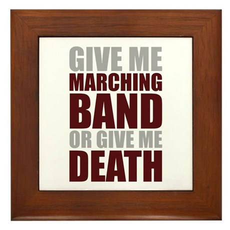 Band or Death Framed Tile