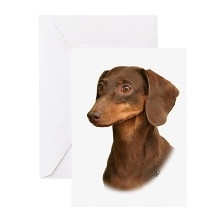 Dachshund 9Y420D-379 Greeting Cards (Pk of 10)