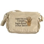 High Fived Face Messenger Bag