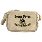 Jesus Saves Messenger Bag
