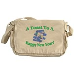 New Year's Toast Messenger Bag