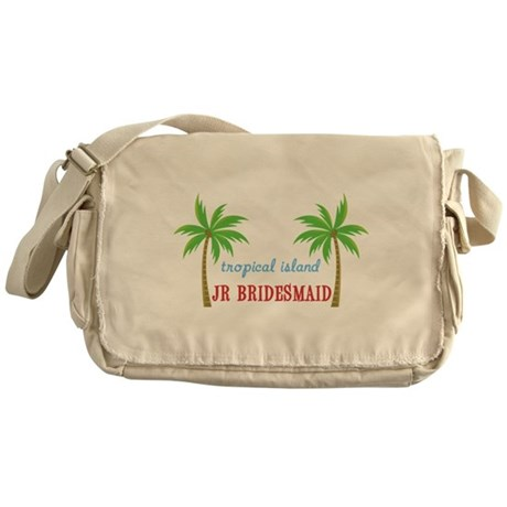 Jr Bridesmaid Tropical Weddin Messenger Bag