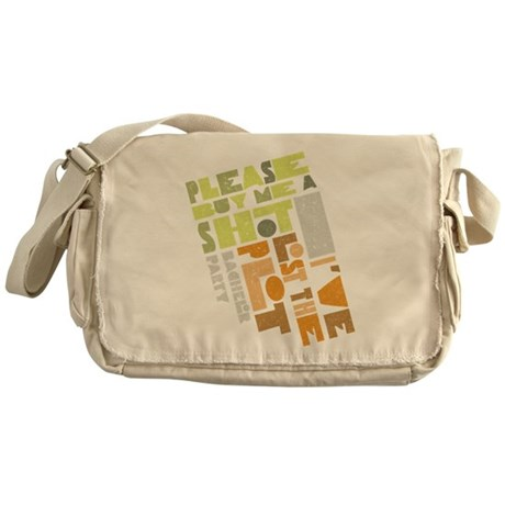 Retro Lost the Plot Messenger Bag