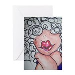 Betty Bubbles Greeting Card