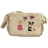 Panda Rabbi Engrish Messenger Bag