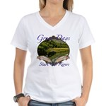 Trout Fishing Women's V-Neck T-Shirt