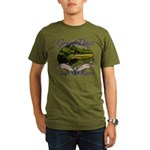 Trout Fishing Organic Men's T-Shirt (dark)