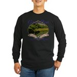 Trout Fishing Long Sleeve Dark T-Shirt