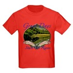 Trout Fishing Kids Dark T-Shirt