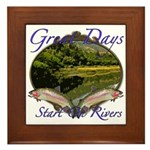 Trout Fishing Framed Tile