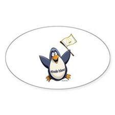 Rhode Island Penguin Decal