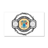 New Jersey Volleyball Car Magnet 20 x 12