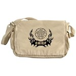 Fire Chief Tattoo Messenger Bag