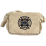Firefighters Think Green Messenger Bag