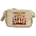 Firefighter Tribal Flames Messenger Bag