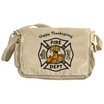 Thanksgiving Firefighter Messenger Bag