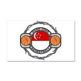 Singapore Basketball Car Magnet 20 x 12