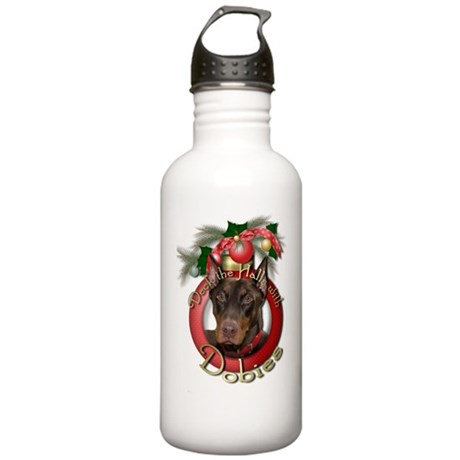 Christmas - Deck the Halls - Stainless Water Bottl