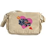 EMS Care Heart Messenger Bag