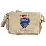 Police Officer Husband Messenger Bag