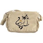 Siamese Cat Royalty Messenger Bag