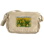 Sunflower Cluster Messenger Bag