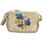 Watercolor Flowers Messenger Bag