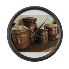 Antique Ceramic Jars Large Wall Clock