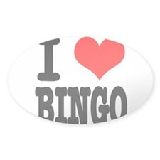 I Heart (Love) Bingo Decal