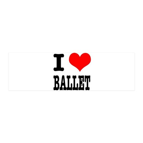 I Heart (Love) Ballet 21x7 Wall Peel